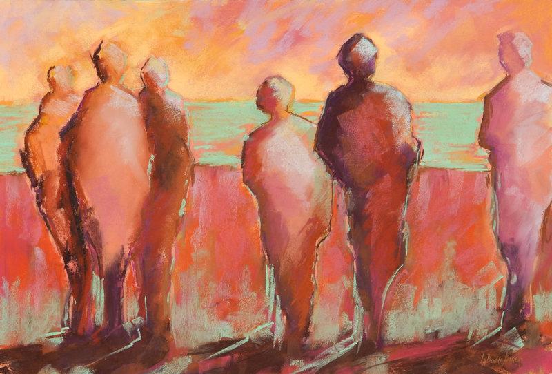Pastel the watchers LaDonna Kruger