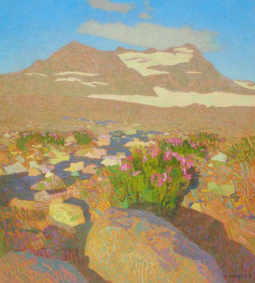 Michael Ferguson Acrylic Painting Penstemon on Glacier