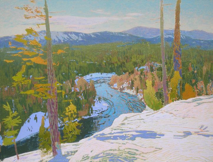 Michael Ferguson Acrylic Painting Chumstick Snow Ridge