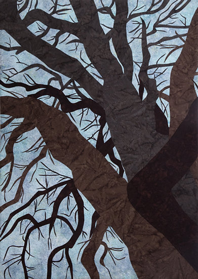 Art quilt grandmother tree Mary Arnold