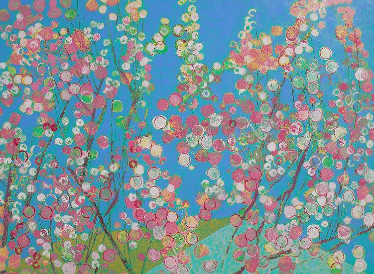 Michael Ferguson Acrylic Painting Flowering Cherry