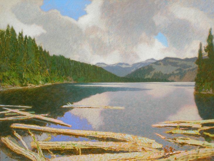 Michael Ferguson Acrylic Painting On Copper Lake