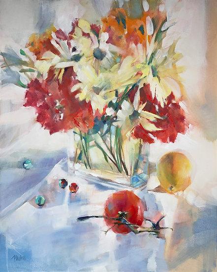 oil painting tomato time Barbara Benedetti-Newton