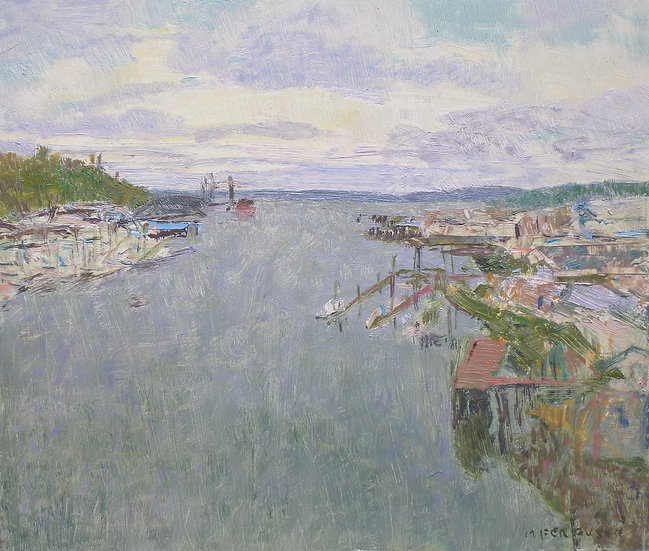 Michael Ferguson Oil Painting From The 11th Street Bridge