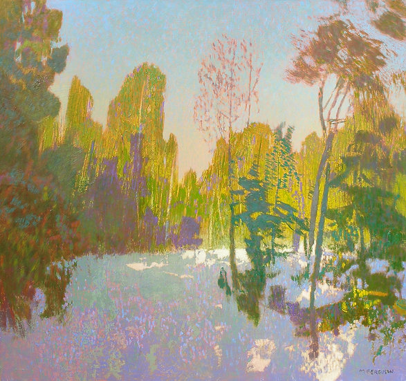 Michael Ferguson Acrylic Painting Snow Clearing