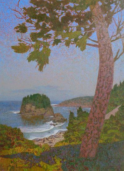 Michael Ferguson Acrylic Painting Sea View