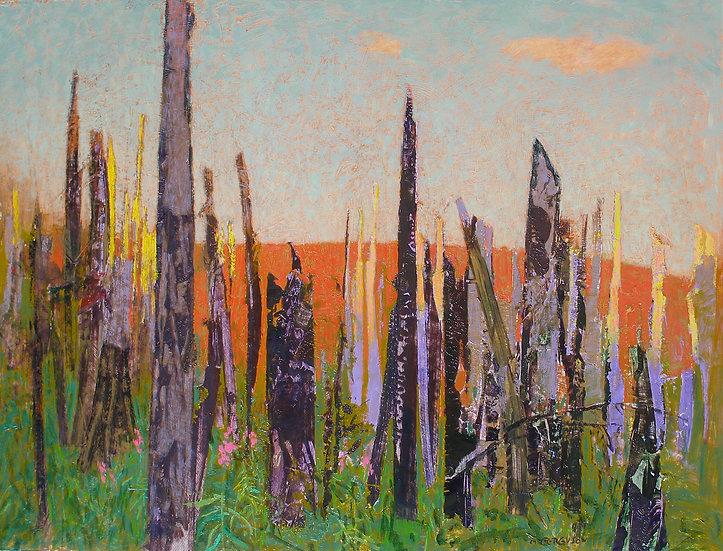 Michael Ferguson Acrylic Painting After the Burn