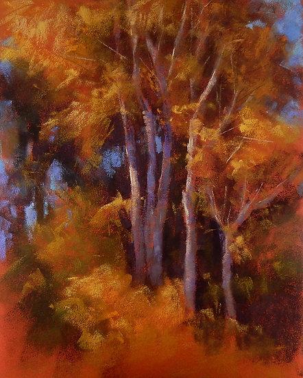 pastel Deborah henderson splash of autumn