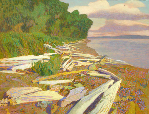 Michael Ferguson Acrylic Painting Logs