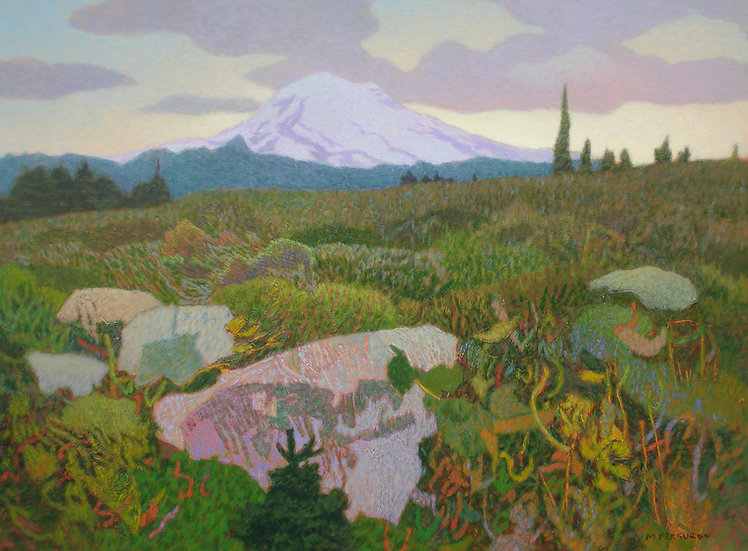 Michael Ferguson Acrylic Painting Alpine Spirit