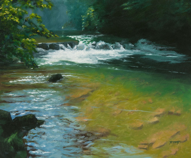 Oil Painting richard smith little river