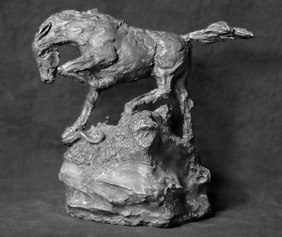 bronze sculpture snake killer Richard Heller