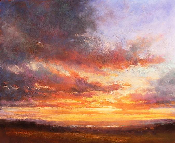 pastel Amanda Houston Sunrise of Hope