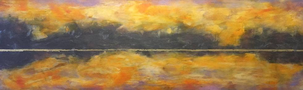 encaustic bay morning Debra Van Tuinen