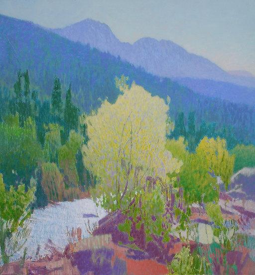 Michael Ferguson Acrylic Painting Icicle River Bloom