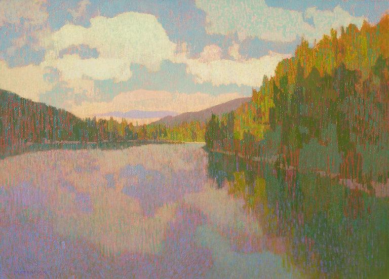 Michael Ferguson Acrylic Painting Glacier Lake II