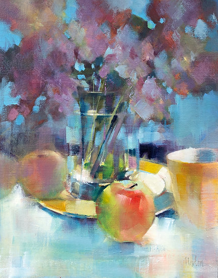 oil painting apples Barbara Benedetti-Newton