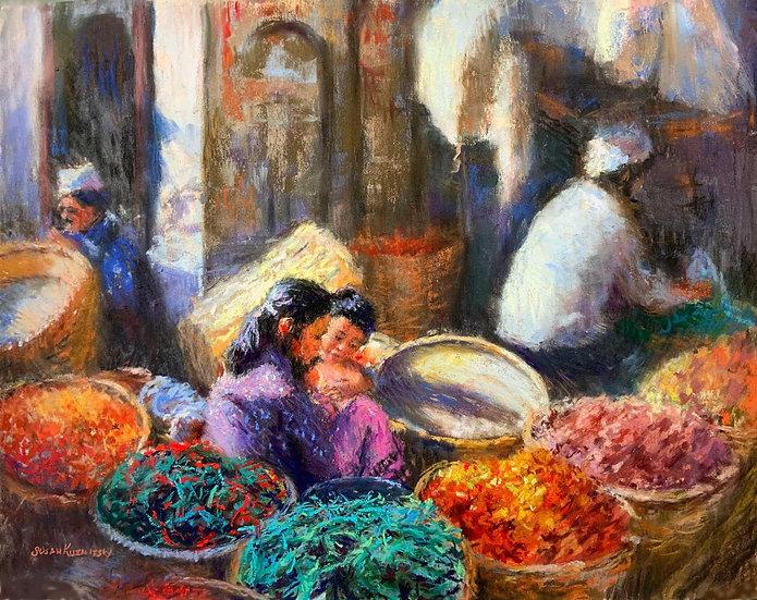 pastel susan kuznitsky market day