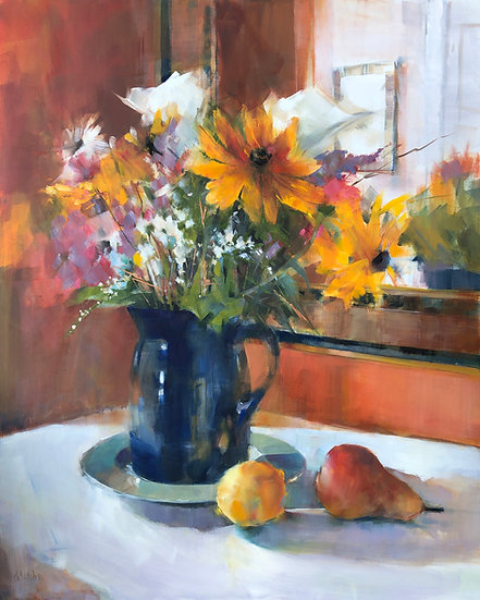 oil painting sunday bouquet Barbara Benedetti-Newton