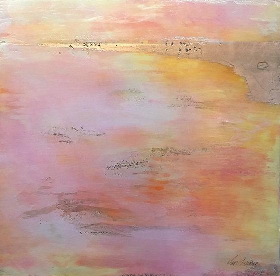 encaustic sunset Debra Van Tuinen