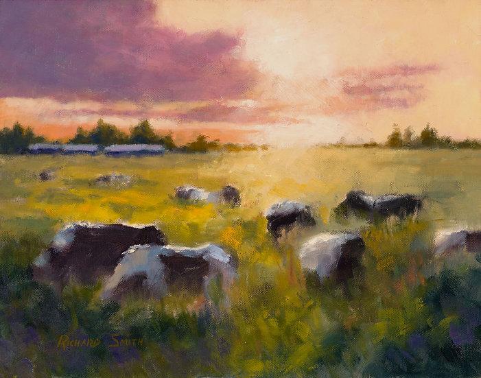 Oil painting richard smith deep pasture