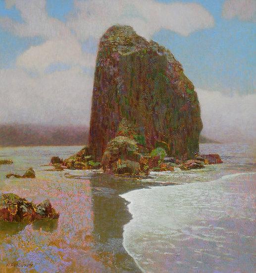 Michael Ferguson Acrylic Painting Trinidad Rocks