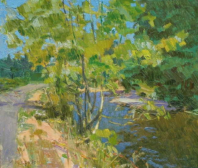 Michael Ferguson Oil Painting Bike Path Maple