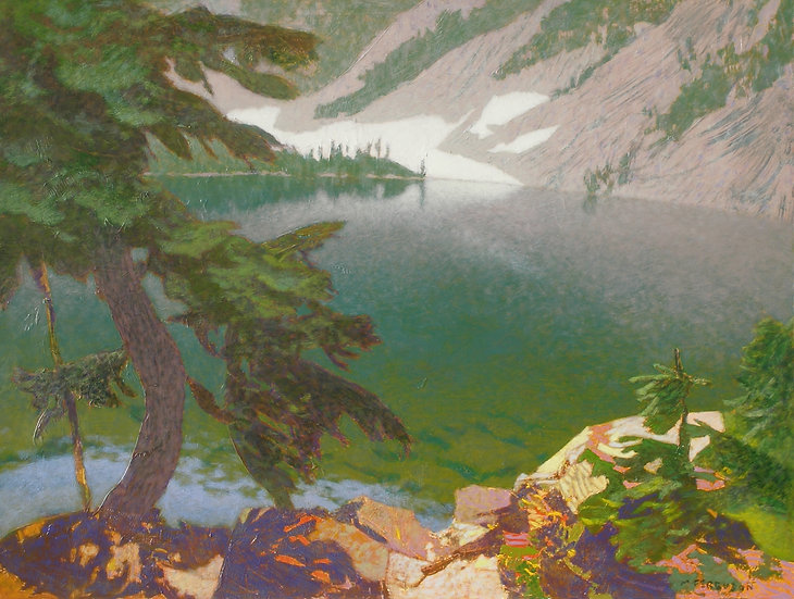 Michael Ferguson Acrylic Painting Enjar Lake