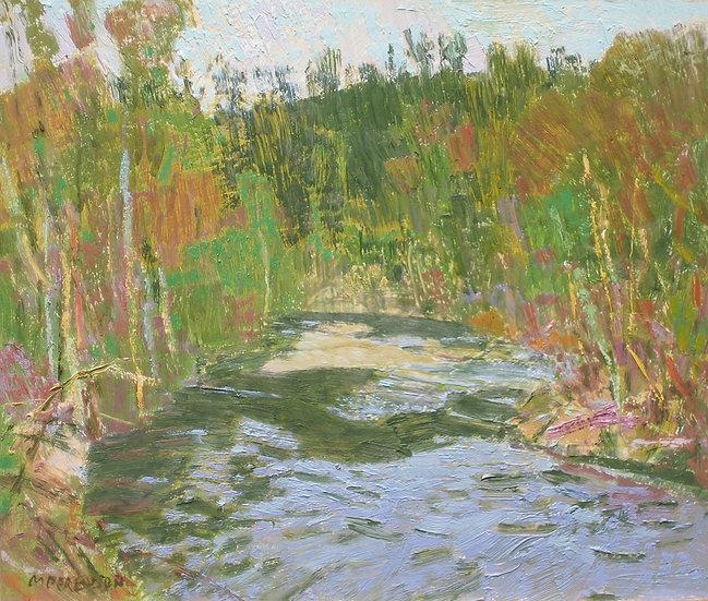 Michael Ferguson Oil Painting Cedar River Trail I