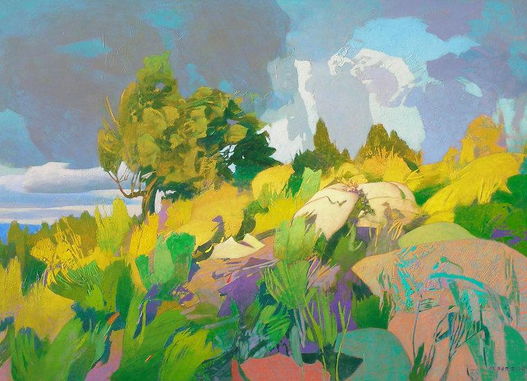 Michael Ferguson Acrylic Painting Syko Hill