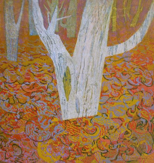 Michael Ferguson Acrylic Painting All Leaves Down