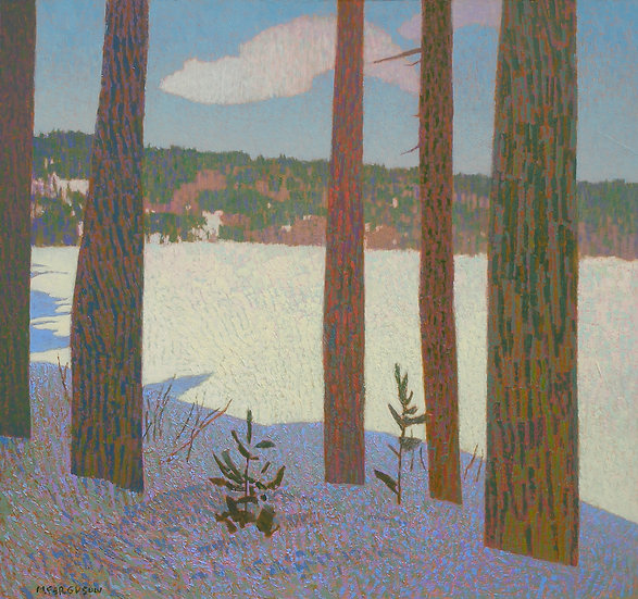 Michael Ferguson Acrylic Painting Ollalie Lake