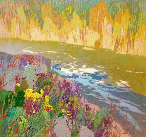Michael Ferguson Acrylic Painting Methow Bluff