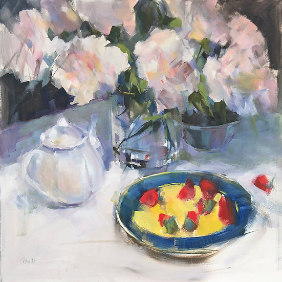 Oil painting Barbara Benedetti-Newton strawberries