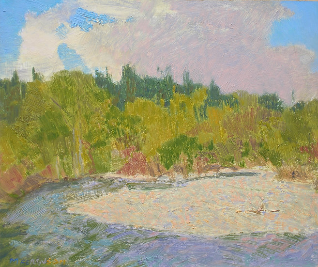 Michael Ferguson Oil Painting Cedar River Trail II
