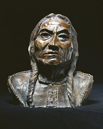 Bronze Sculpture Sitting Bull Richard Heller