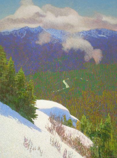 Michael Ferguson Acrylic Painting Across the Valley