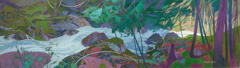 Michael Ferguson Acrylic Painting Cascade Lush