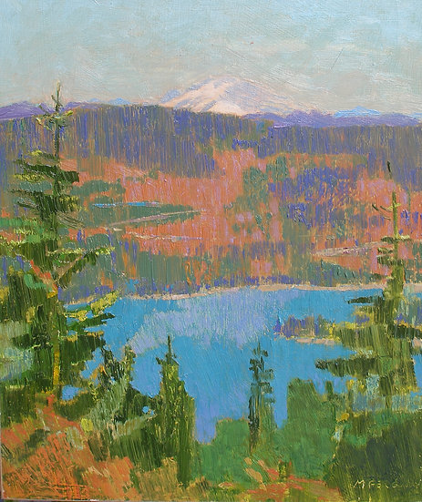 Michael Ferguson Oil Painting Kachess View