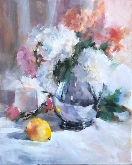 Oil painting lemon barbara benedetti newton