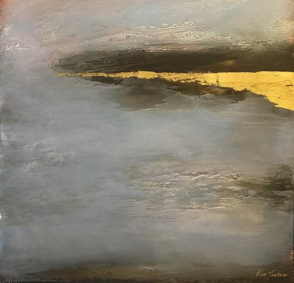 encaustic beach meditation Debra Van Tuinen