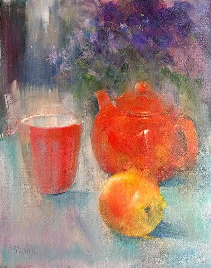 oil painting orange Barbara Benedetti-Newton