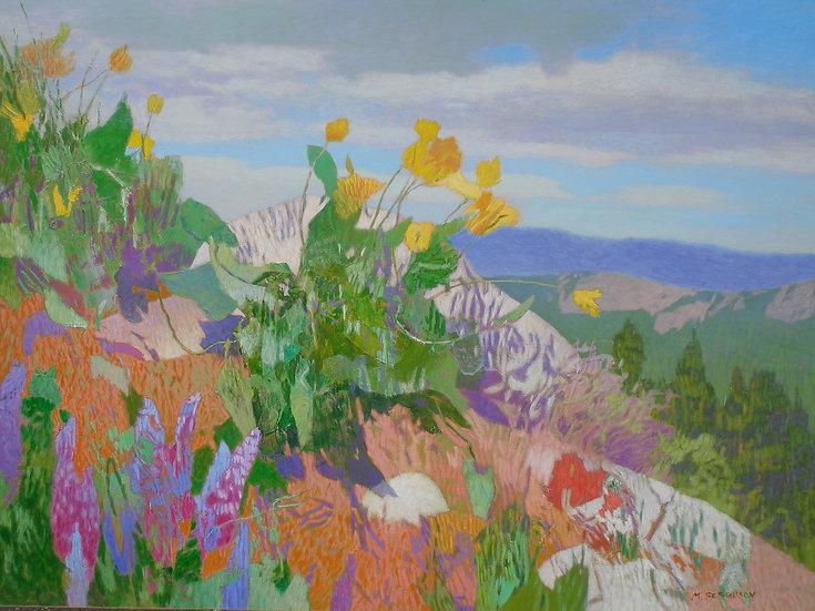 Michael Ferguson Acrylic Painting Natapoc Ridge