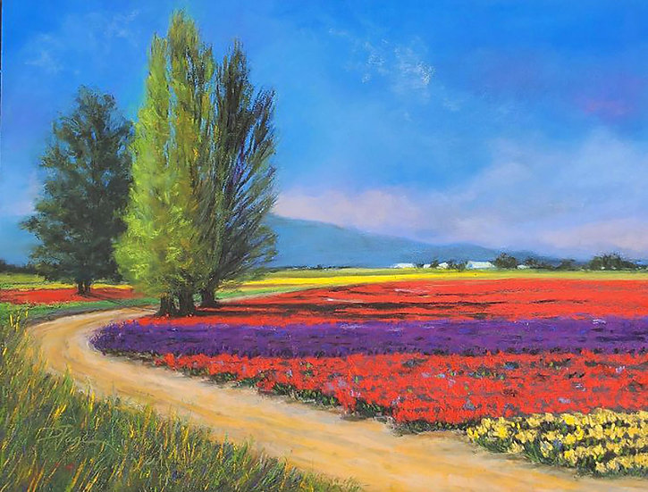 pastel denise page the perseverance of spring II
