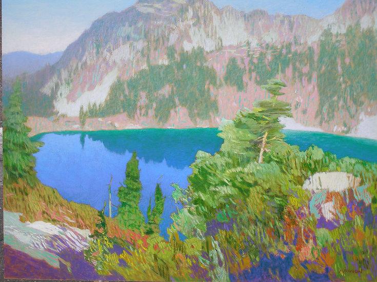Michael Ferguson Acrylic Painting Bath Lakes