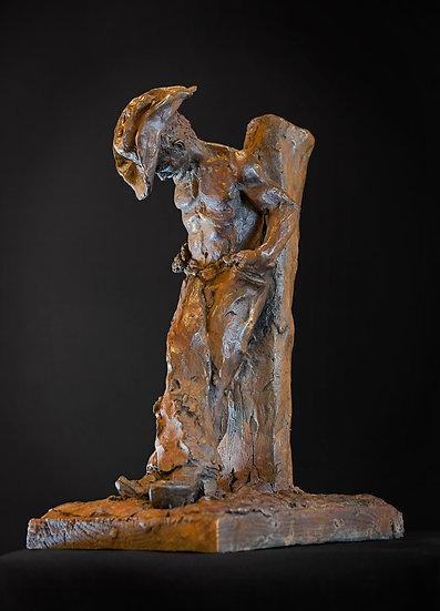 Bronze sculpture circle k cowboy Richard Heller