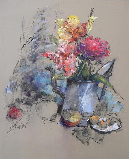 pastel Patricia Meras Still Life with Apple