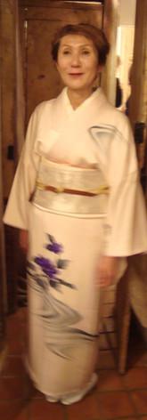 Kimono fleur violette