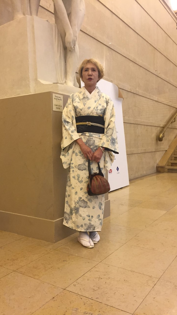 Kimono blanc cassé