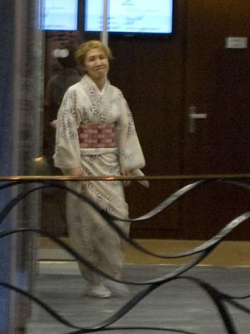 Kimono damier